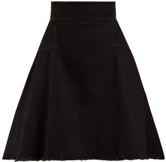 Alexander McQueen Washed Japanese denim A-line mini skirt