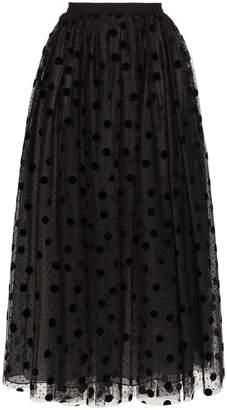 Erdem Lindie polka-dot tulle skirt