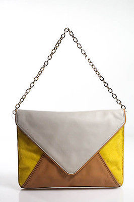 Banana Republic Multi-Color Leather Calf Hair Small Shoulder Handbag $29 thestylecure.com