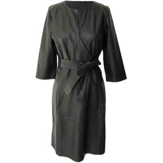 Closed Black Leather Dress for Women