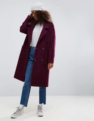 Asos DESIGN Oversized Coat with Tab Back