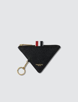 Thom Browne Triangular Zip Coin Pouch