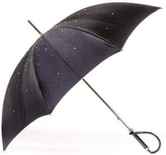 Black Swarovski Crystal Luxury Double Canopy Italian Umbrella
