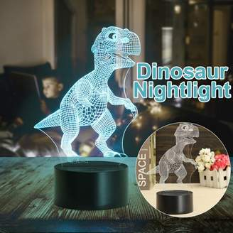 Hallolure USB 3D Dinosaur LED Lamp Touch Switch Desk Table Night Light 7 Color Change Birthday Valentine's Day Gift