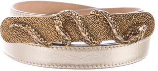 Roberto CavalliRoberto Cavalli Embellished Metallic Belt