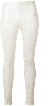 Stella McCartney sheer lace detail leggings