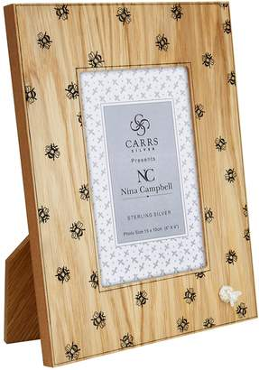 """Carrs of Sheffield Silver Bee Border Photo Frame (6""""x4"""")"""