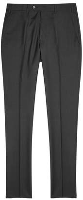 Emporio Armani M-Line Charcoal Wool Trousers