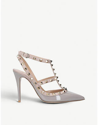 Valentino Rockstud 100 patent-leather studded courts