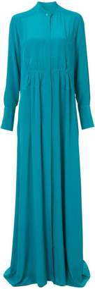 Tome mandarin collar maxi dress