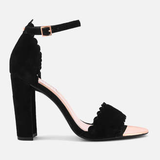 17777dd6f9321 at Allsole. Ted Baker Women s Raidha Suede Barely There Block Heeled Sandals  - Black