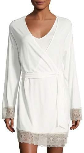 CosabellaCosabella Bacall Long-Sleeve Robe, Ivory