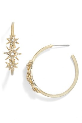 Women's Jenny Packham Stardust Hoop Earrings $48 thestylecure.com