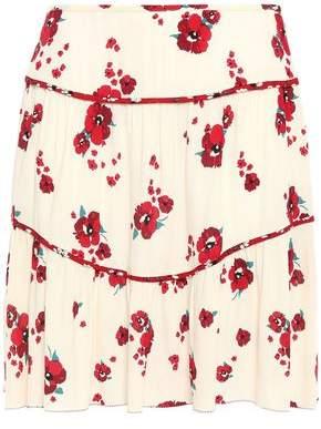 BA&SH Bia Floral-print Crepe Mini Skirt