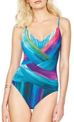 Gottex One-Piece V-Neck Swimsuit $158 thestylecure.com