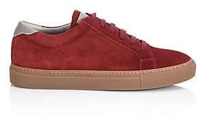 Brunello Cucinelli Men's Round Toe Suede Low Top Sneakers