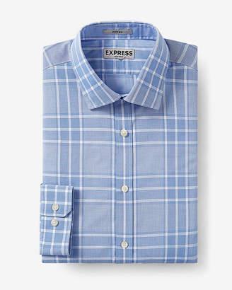 Express Slim Fit Plaid Non-Iron Dress Shirt