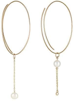 Lee Grace Women's Whisper Hoops - Yellow Gold