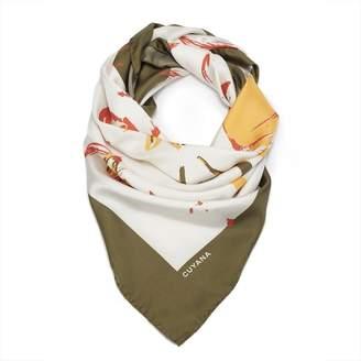 Cuyana Silk Floral Scarf