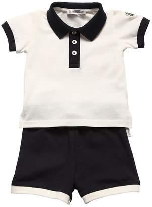 Moncler Cotton Piqué Polo Shirt & Shorts