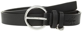 Calvin Klein 25 mm Flat Strap w/ Multi Rings Belt