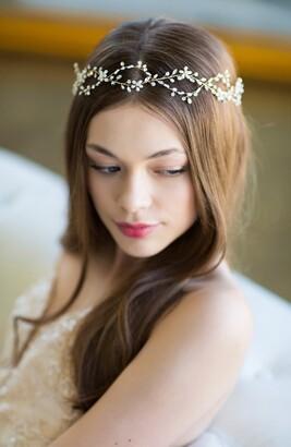 Octavia Brides & Hairpins Pearl & Jeweled Halo & Sash