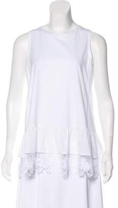 Thakoon Lace-Accented Sleeveless Top