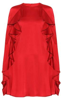Valentino Crêpe cape dress