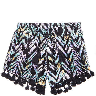 Vanilla Star Chevron-Striped Shorts, Big Girls