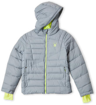 Spyder Boys 8-20) Grey Hooded Puffer Jacket