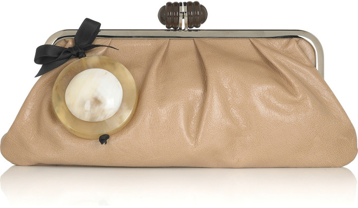 Marni leather frame clutch