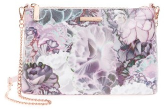 Ted Baker London Illuminated Bloom Leather Crossbody Bag - Purple $139 thestylecure.com