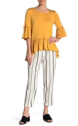 Karen Kane Cuffed Stripe Pants