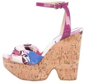 Jimmy Choo Ankle Strap Wedge Sandals Violet Ankle Strap Wedge Sandals