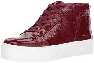 Kenneth Cole New York Women's Janette High Top Lace up Platform Patent Fashion Sneaker