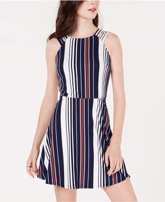 BCX Juniors' Double-Strap Striped Dress