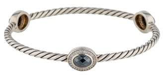 David Yurman Hematite & Diamond Bracelet
