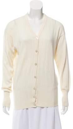 Les Copains Cashmere-Blend Button-Up Cardigan