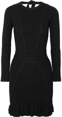 Rebecca Vallance Majorca Pointelle-knit Mini Dress - Black