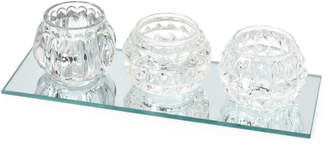 Apropos 4-Piece Glass Tealight Candle Holders Gift Set