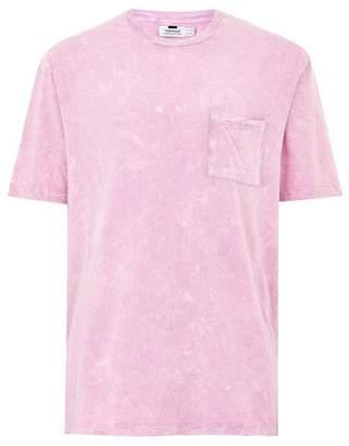 Topman Mens Pink Acid Wash Oversized T-Shirt