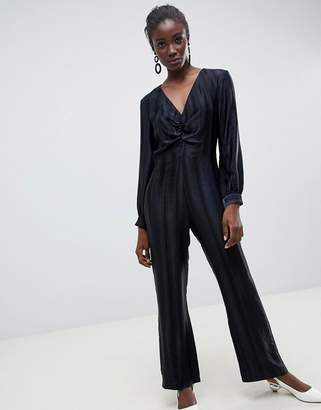 Asos self stripe wide leg jumpsuit