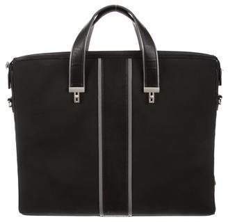 Tumi Canvas Leather-Trim Satchel