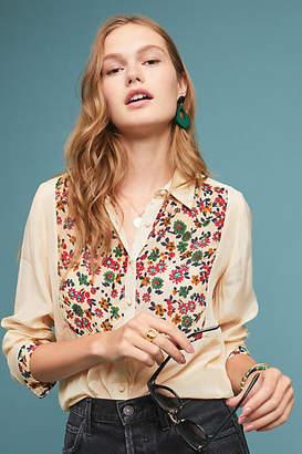 Stella Forest Daisy Embroidered Buttondown