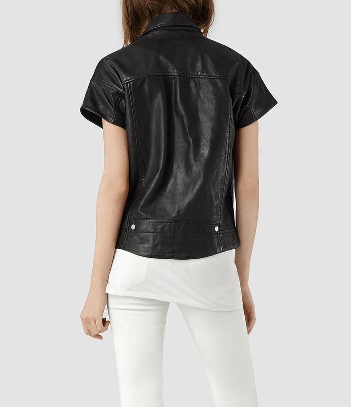 AllSaints Kinley Leather Biker Jacket