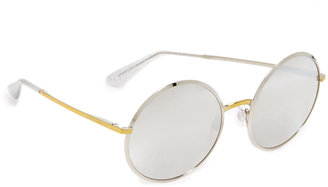 Dolce & Gabbana Round Mirrored Sunglasses $280 thestylecure.com