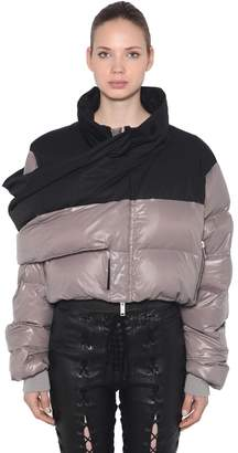 Unravel Short Down Jacket With Warp Panel