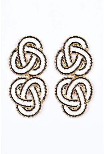 Enamel Knot Drop Earrings