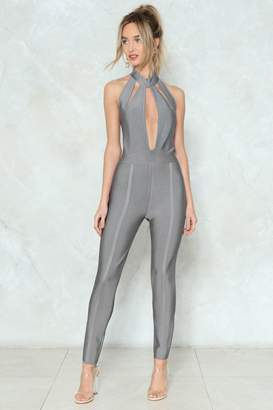 Nasty Gal Close to Heart Bandage Jumpsuit