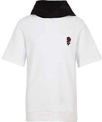 River Island Boys white 'exclusive' embroidered hoodie